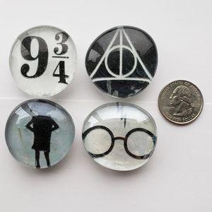 HANDMADE Harry Potter Magnets (Set of 4)